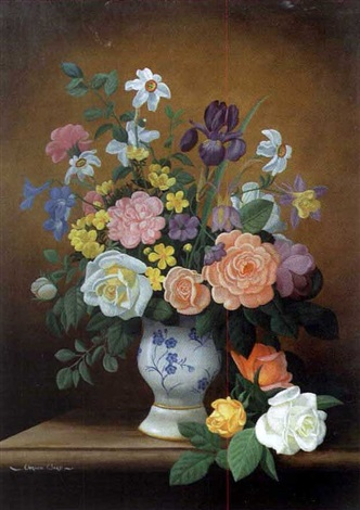 still life with roses by vernon ward