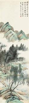 诗意图 立轴 设色纸本 by wang kun