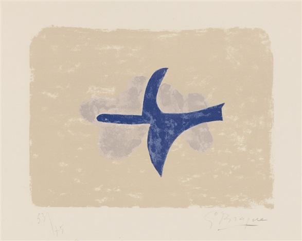 dans le ciel oiseau xv by georges braque