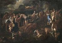 bacchus und ariadne by nicolas poussin