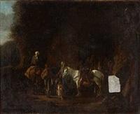 zigeuner an einer felsenhöhle by karel dujardin