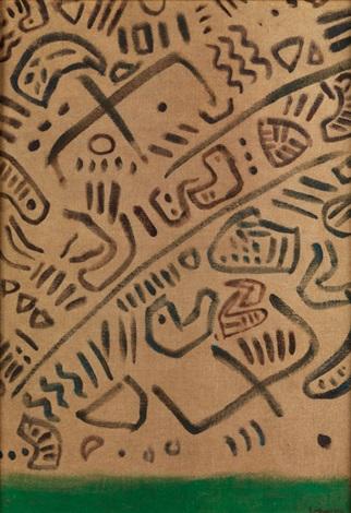 geroglifici (frühhistorische kalligraphie) by giuseppe capogrossi