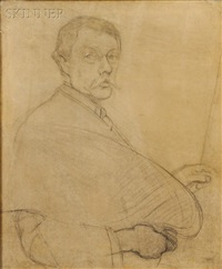 study for self-portrait by philip leslie hale