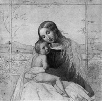 madonna im rosenhang by carl gottlieb peschel