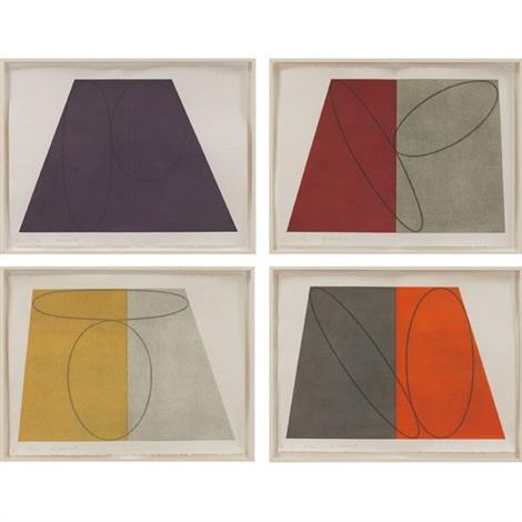planefigure series portfolio of 4 works by robert mangold