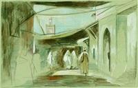 eingang zu den souks von marrakesch by hans hubertus von merveldt