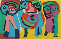 figure composition by karel appel