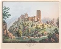 ruine kaja bei handegg, waldviertel, niederösterreich by anton (edler von felsenthal) koepp