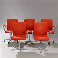 oxford swivel chairs (setoff 5) by arne jacobsen