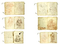 cuaderno de dibujos (4 sketchbooks w/56 works) by leonardo alenza y nieto