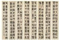 篆书 八屏镜心 水墨纸本 (in 8 parts) by wu changshuo
