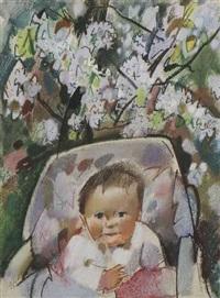 hanna im kinderwagen (+ hanna, circa 1963; 2 works) by otto herbig