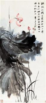风荷 by zhang daqian