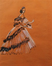 'apparitions' design for ball gown by cecil beaton