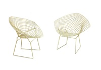 diamond n. 421lu coppia di sedie by harry bertoia