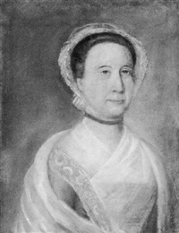 portrait of the widow of colonel benjamin pickman, abigail love rawlings of salem by benjamin blyth