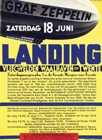 graf zeppelin vlieghaven waalhaven en twente. de eerste zeppelin-landing in nederland by kees van der laan