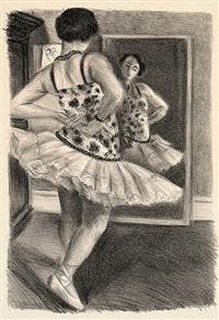 danseuse reflétée dans la glace by henri matisse