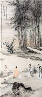 羲之换鹅图 by zhang daqian