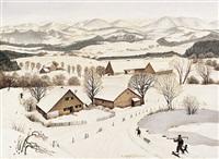winter im allgäu, landschaft bei isny (isny-ried) by fridel dethleffs-edelmann