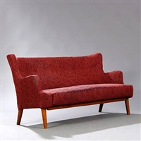 freestanding three seater sofa by eva and nils koppel