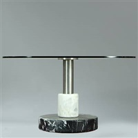 circular dining table by ettore sottsass