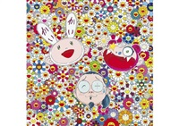 kaikaikiki and me for better or worse in good times and bad, the weather is fine (+ open your hands wide; set of 2) by takashi murakami