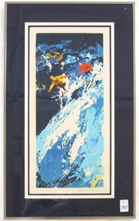 ski slope by leroy neiman