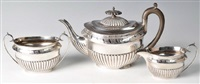 tea service (set of 3) by walker and hall