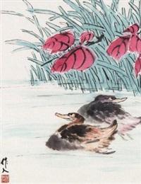 双鸭图 by wu zuoren