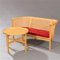 the king's furniture, sofa and table (2 works) by rud thygesen and johnny sorensen