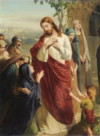 christ and martha by robert herdman