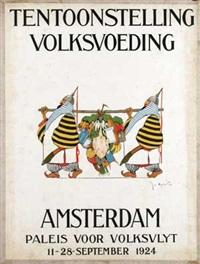 tentoonstelling volksvoeding amsterdam by joseph edward adolf (jo) spier