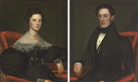 portraits of a lady (+ portrait of a gentleman; pair) by john sherburne blunt