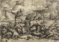 triumph des todes, pl.5 (from petrarca. trionfi) by georg pencz