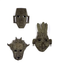 masks (set of 6) by jim davidson