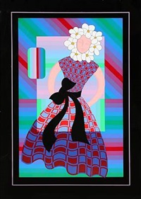 flower girl by victor vasarely