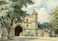 the bishop's gate, ely cathedral by eliab george earthrowl
