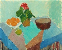 still-life with flowers and oranges by carl andersen