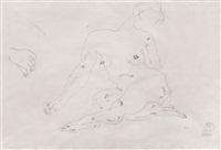 裸女 纸本 铅笔 炭笔 素描 by sanyu