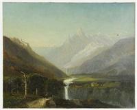 european alpine landscape by francis snowe