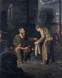 der tuchhändler by nikolai alexeievich kasatkin