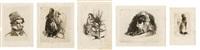 planche de la série los capricios (set of 5) by leonardo alenza y nieto