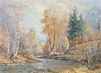 early morning - solomon river, b.c. by mario moczorodynski