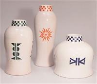 3 vasen aus der memphis easy home collection by alessandro mendini