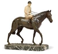 jockey auf pferd by maurice guiraud-rivière