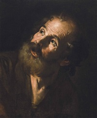 the penitent saint peter by hendrick van somer