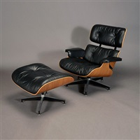 eames lounge chair and ottoman (2 works) by herman miller