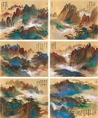 忆写黄山 (六帧) (6 works) by liu haisu
