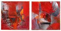 stromboli (diptych) by ralph gelbert